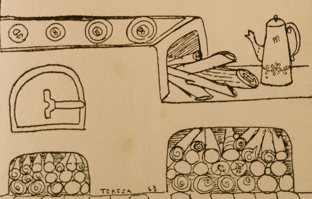 Ilustração da artista plástica Teresa D'Amico para o livro Cozinha Tradicional Paulista, de Jamile Japur