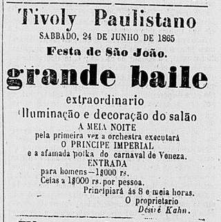 festa junina no Tivoly Paulistano_Correio_21-06-1865